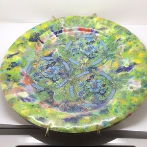 """8"""" hand painted ceramic plate"""